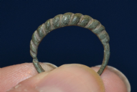 "A nice Viking mens bronze ""Faux rope twist"" finger ring."